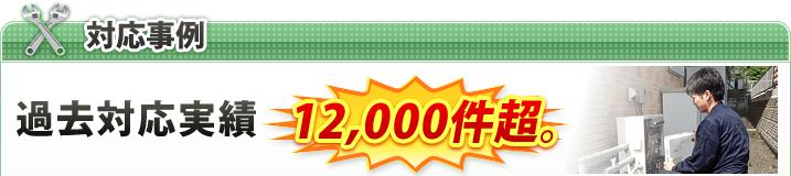 事例 過去対応実績12,000件超